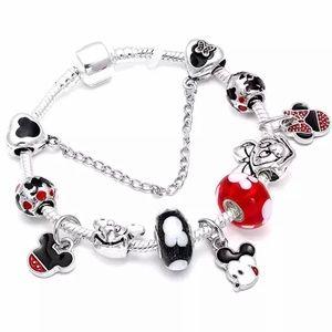 ✨Brand New Sterling Silver Mickey Charm Bracelet✨